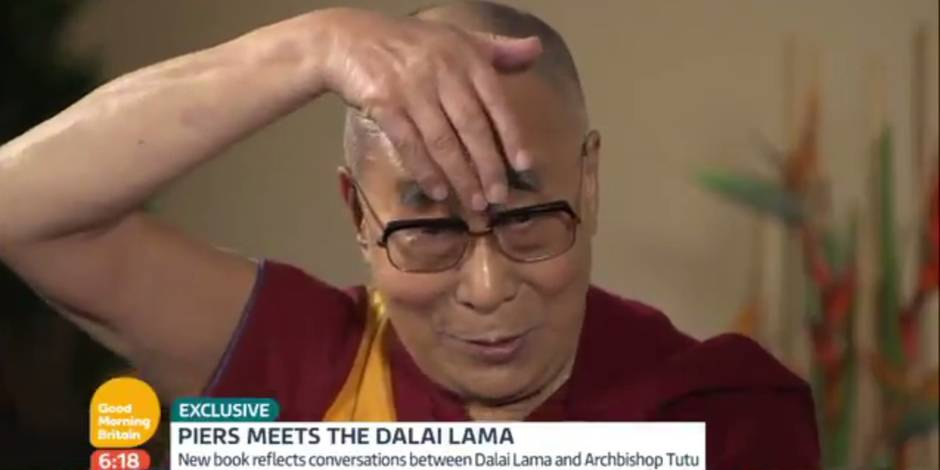 Quand le Dalaï-lama imite Donald Trump (VIDEO)