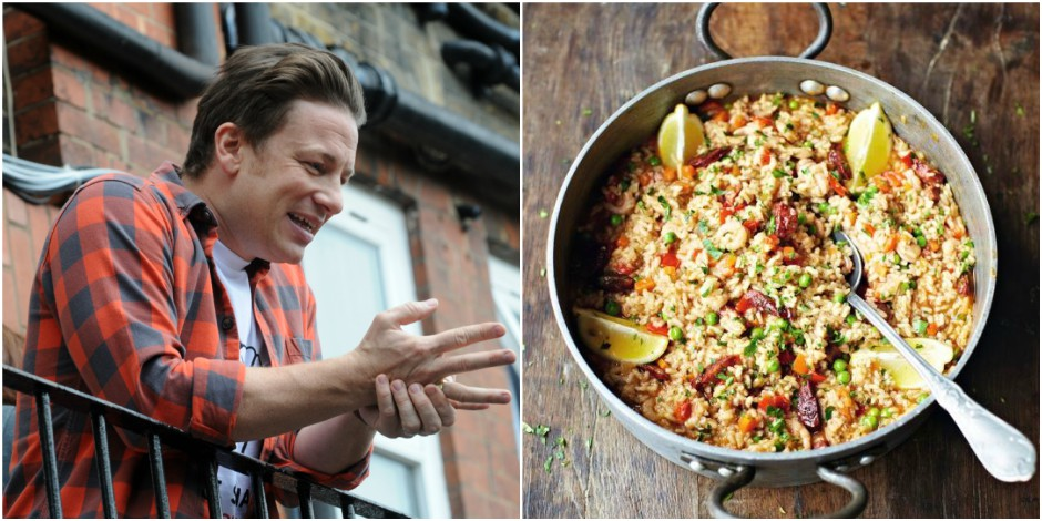 """Avec du chorizo, le chef Jamie Oliver déclenche un """"paellagate"""""""