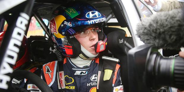 Belgian driver Thierry Neuville pictured on the last day of the Rally of Germany, 9th stage of the World Rally Championship, Friday 19 August 2016 near Trier, Germany. BELGA PHOTO WILLY WEYENS