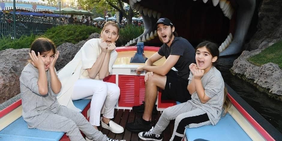 Céline Dion s'éclate avec ses enfants à Disneyland