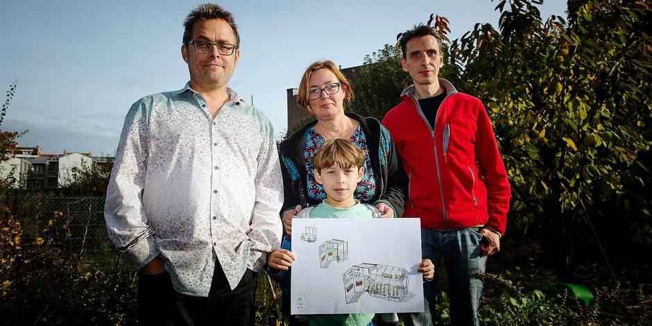 Bruxelles - Laeken: Projet de growdfunding en vue de l'implantation d'un kiosque à graines dans les jardins bruxellois. Le projet incite les citoyens à développer leur propre potager meme sur des espaces reduits