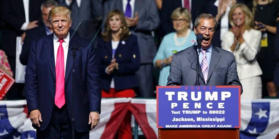 "Trump ne sera pas un ""ogre"", selon Nigel Farage"