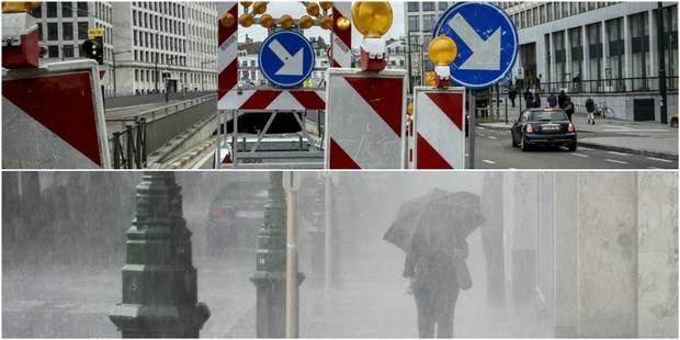 Gros embarras de circulation dans Bruxelles et ses environs à cause des inondations - La DH