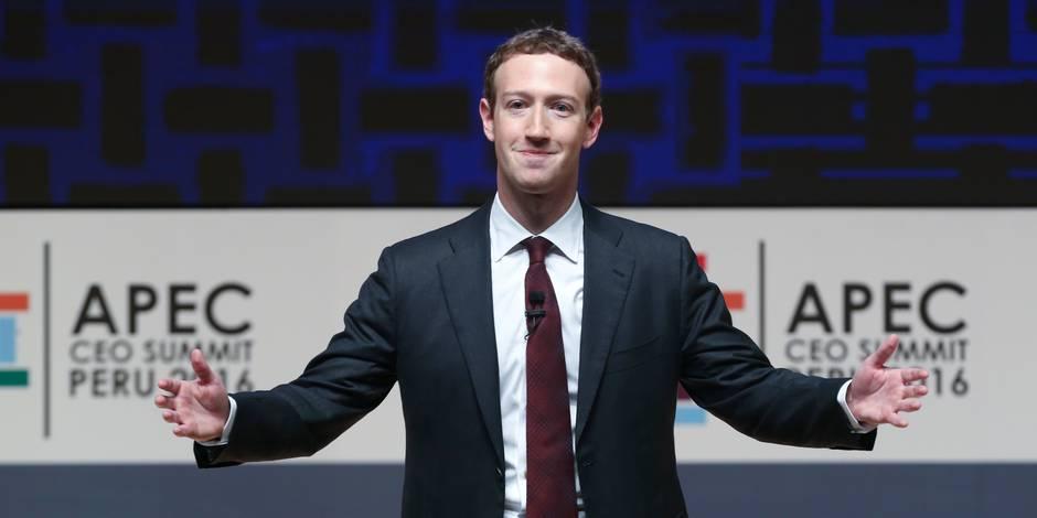 """Le patron de Facebook appelle le monde de l'après-Trump à rester """"connecté"""""""
