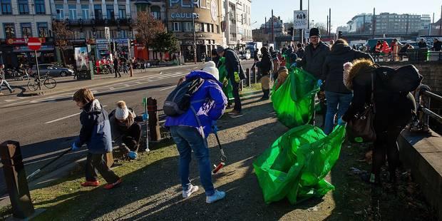 Bruxelles-Ville: plus de 700 kilos de déchets ramassés par des citoyens! (VIDÉO) - La DH