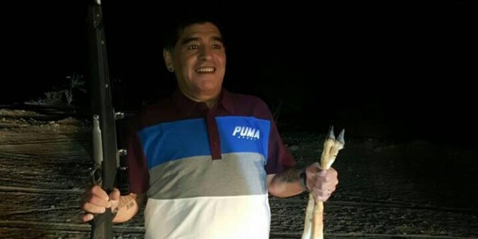 Maradona au cœur d'une polémique pour avoir tué un animal en voie de disparition (PHOTO)