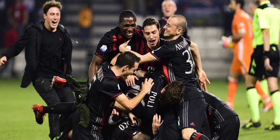 L'AC Milan bat la Juventus aux tirs au but
