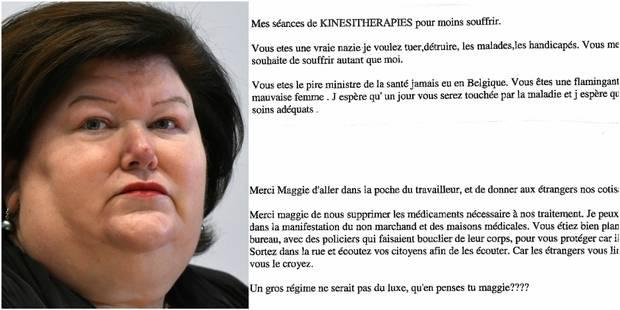 Insultée et menacée, Maggie De Block monte au créneau - La DH
