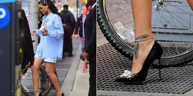 Mais comment fait Rihanna pour marcher en talons n'importe où? - La DH