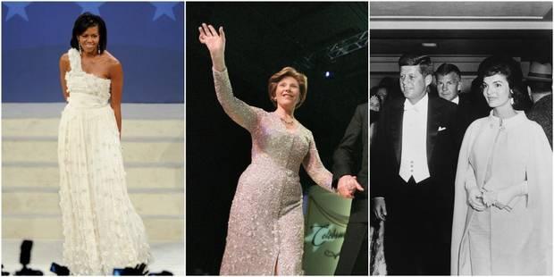 De Jackie Kennedy à Michelle Obama, les tenues d'investiture des First Lady - La DH