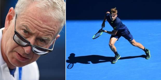 """John McEnroe dézingue David Goffin: """"Un match aussi plat qu'une crêpe"""""""