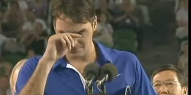 Quand Federer fondait en larmes à Melbourne (VIDEO) - La DH