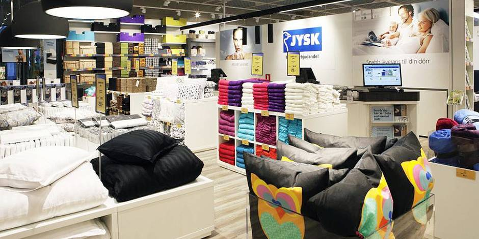 jysk le grand concurrent d ikea d barque en belgique la dh. Black Bedroom Furniture Sets. Home Design Ideas