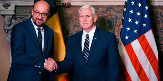 """Charles Michel """"très heureux"""" de rencontrer le vice-président américain - La DH"""