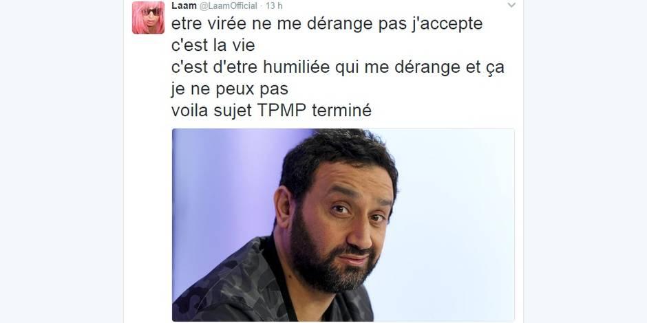 """Lââm se sent """"humiliée"""" par Hanouna et le clashe sur Twitter"""