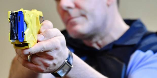 Le projet pilote de tasers pour les policiers mis au frigo - La DH