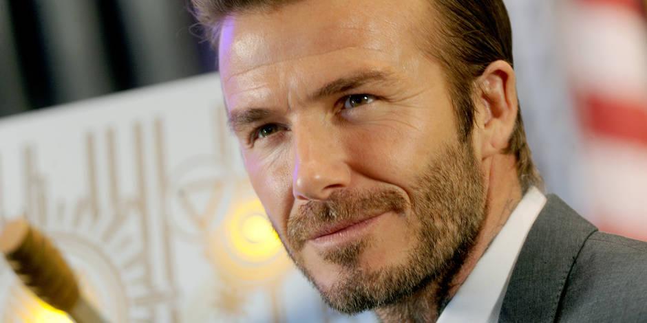 OMG, David Beckham est balafré