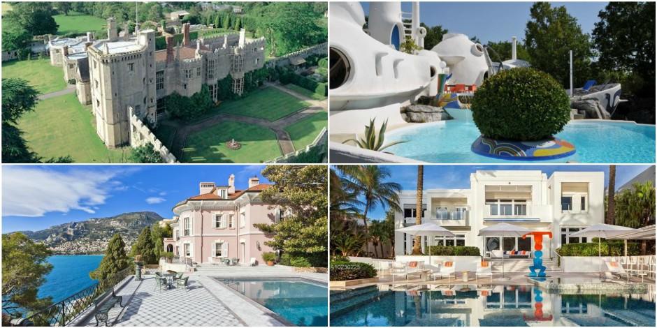 Huit villas ou bâtiments prestigieux à vendre