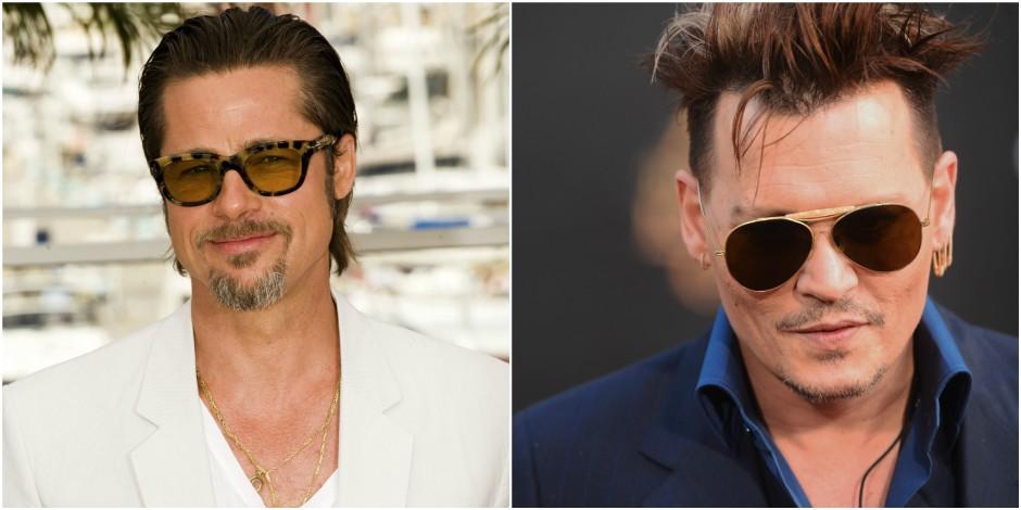 Brad Pitt et Johnny Depp, deux fantômes méconnaissables