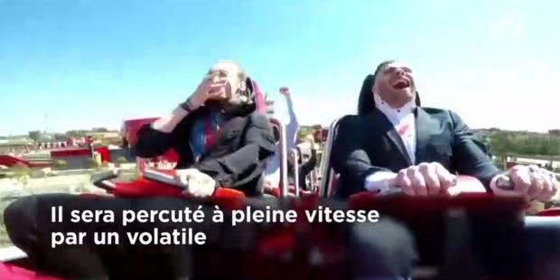Lancé à 180km/h sur un manège, il prend un pigeon en plein visage (VIDEO) - La DH