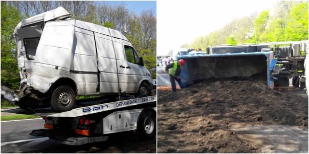 Camion sur le flanc à Braine-l'Alleud : circulation rétablie sur le ring (PHOTOS et VIDEOS) - La DH
