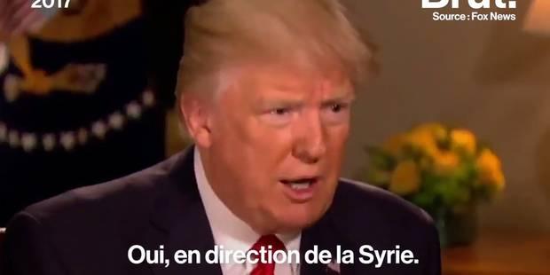 Quand Donald Trump se vante d'avoir envoyé des missiles sur l'Irak... et non la Syrie (VIDEO) - La DH