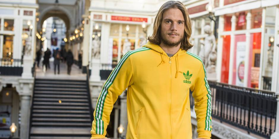 20160114 - NANTES, FRANCE: FC Nantes and Belgian international player, Guillaume Gillet pictured during a photoshoot in Nantes, France, Thursday 14 January 2016. BELGA PHOTO VALERY JONCHERAY