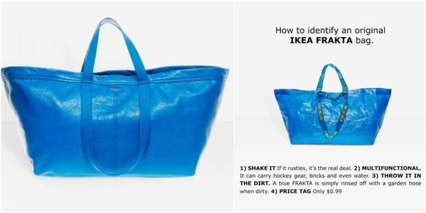 La réponse ironique d'Ikea au fameux sac bleu Balenciaga - La DH