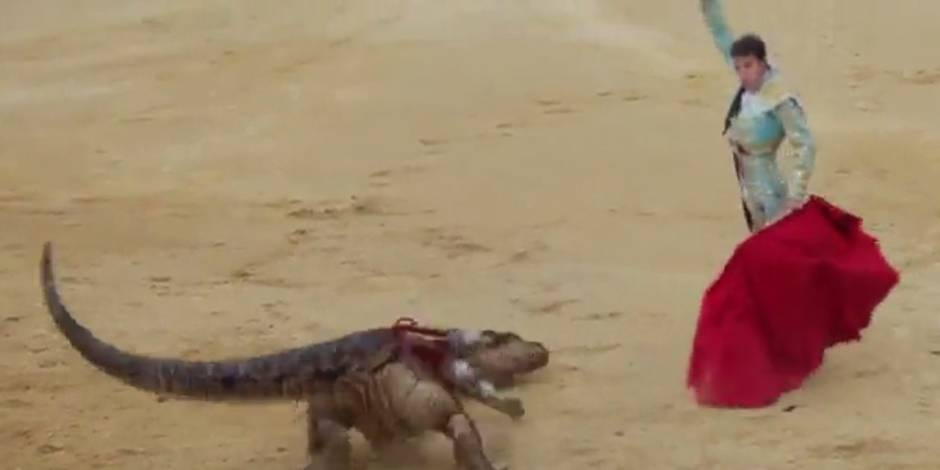 Un torero face à un dinosaure: ce spot anti-corrida fait son effet (VIDEO)