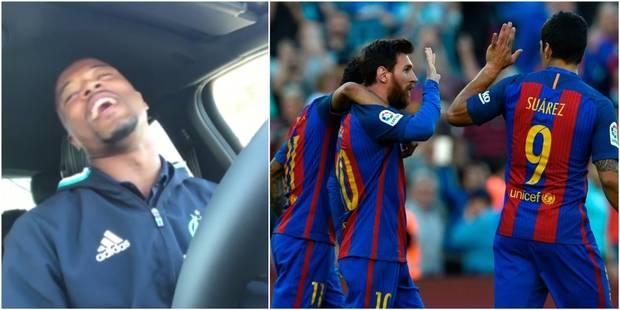 Le meilleur du foot européen en vidéos:Un but et un craquage pour Evra, la MSN ne s'arrête plus - La DH