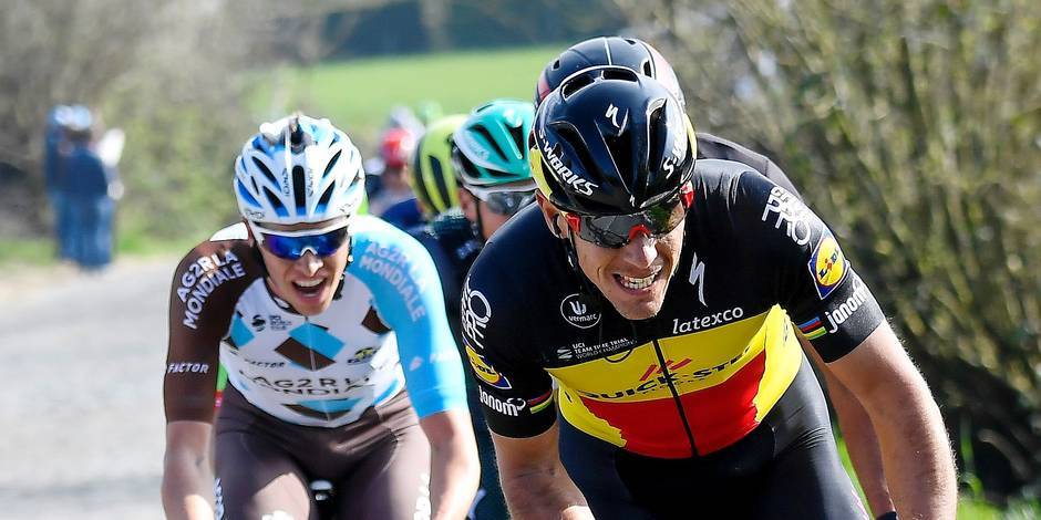 Van der Poel gagne, Gilbert leader