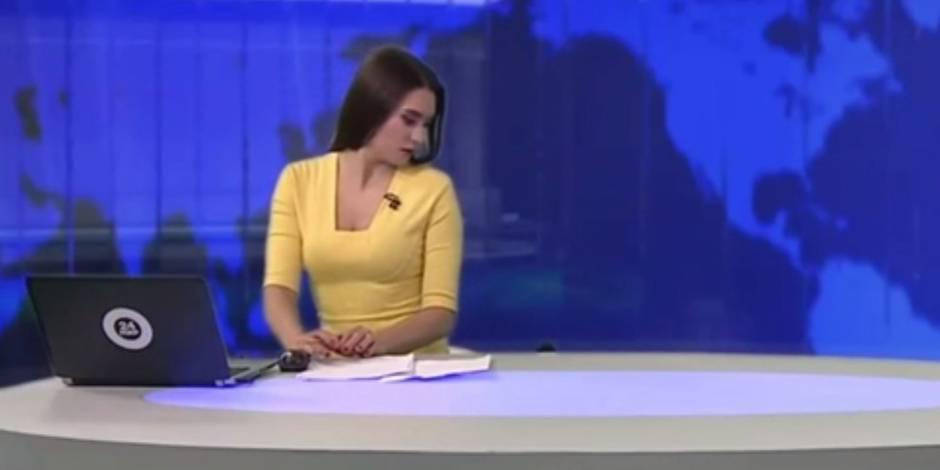 Cette présentatrice ne s'attendait pas à être interrompue par cet élément perturbateur (VIDEO)