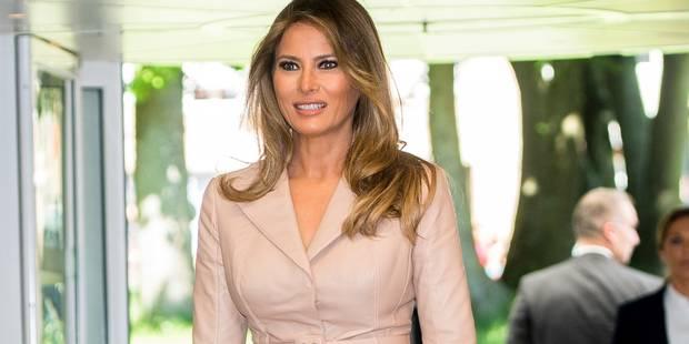 Melania Trump partage son enthousiasme sur Twitter après sa visite en Belgique - La DH