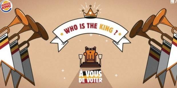 Une publicité Burger King irrite le roi Philippe qui envisage d'éventuelles poursuites - La DH