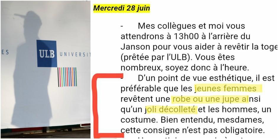 L'email sexiste de l'université de Bruxelles qui passe mal — Belgique