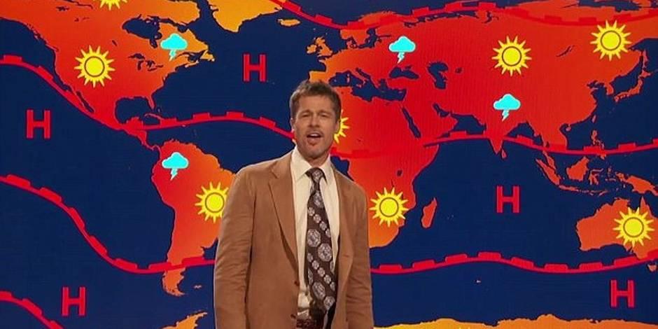 Brad Pitt devient présentateur météo aux Etats-Unis