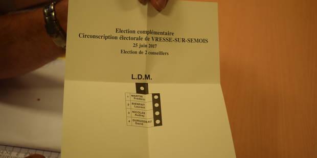 Le verdict des urnes à Vresse-sur-Semois (PHOTOS) - La DH