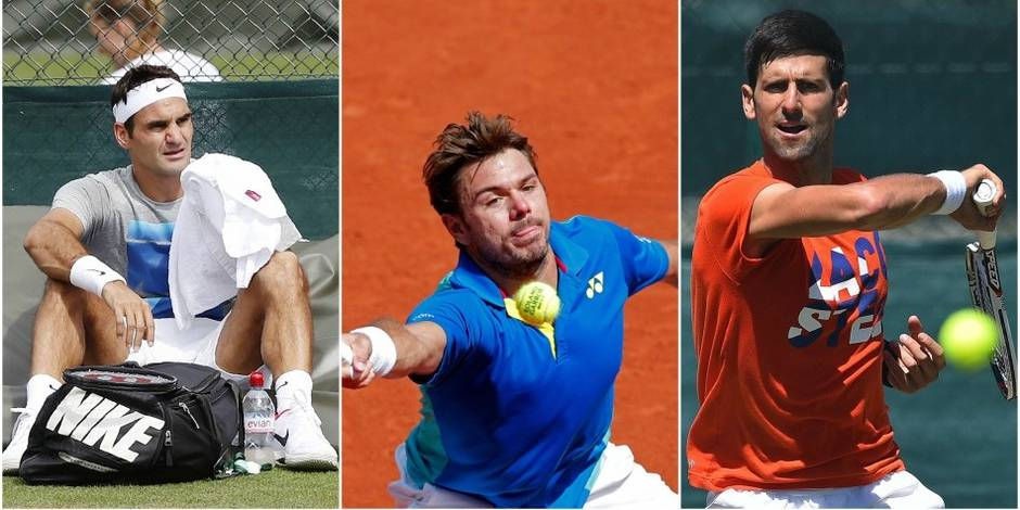 """Un tableau """"plutôt difficile"""" pour Federer, Djokovic requinqué, Wawrinka pas serein: le point sur les favoris de Wimbledon"""