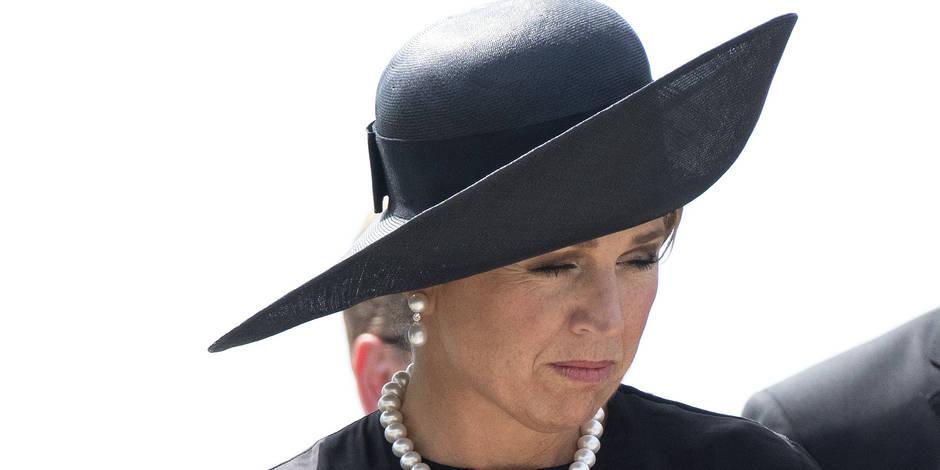 La reine Maxima des Pays-Bas en deuil
