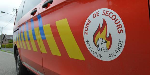 Camion sur le flanc sur l'E42 à Gaurain-Ramecroix - La DH