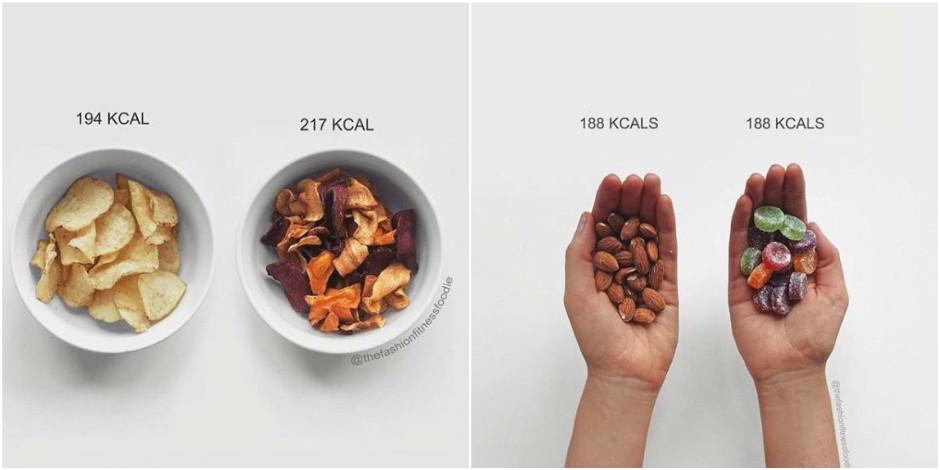 Une blogueuse compare les calories et brise le mythe de l'aliment sain
