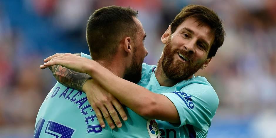 Liga: Messi et le Barça domptent Alavés
