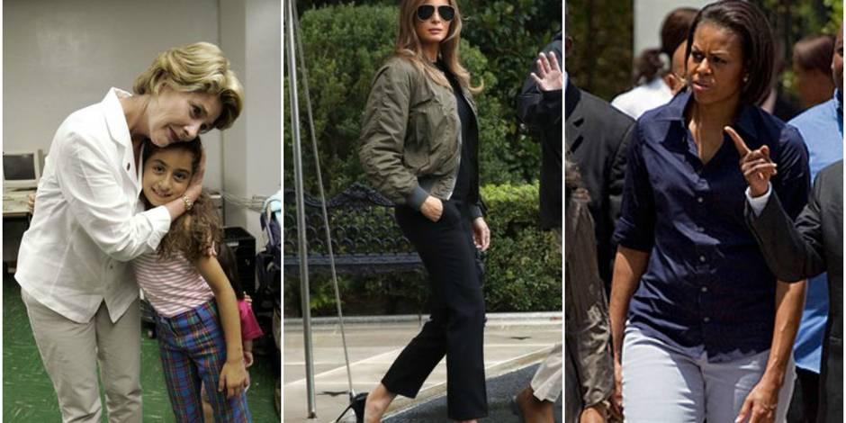 Harvey : les femmes des autres présidents ont-elles fait mieux que Melania Trump et ses hauts talons ?