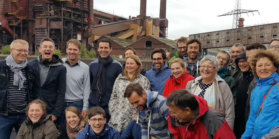 Une mise au vert en groupe à Charleroi pour les Verts