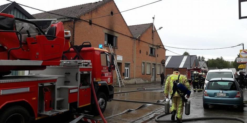 Incendie dans un bâtiment industriel à Braine-le-Comte
