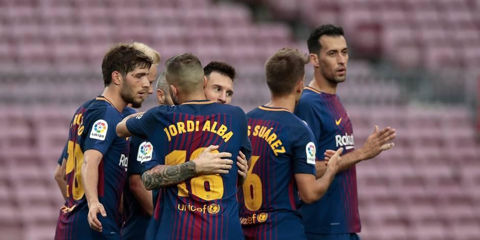 Liga: à huis clos, le Barça bat Las Palmas 3-0