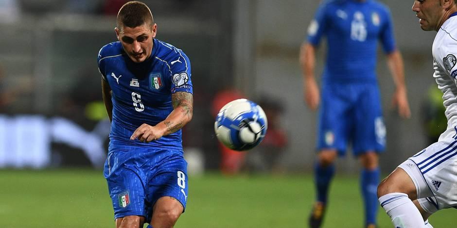 Verratti forfait pour les deux matches de l'Italie