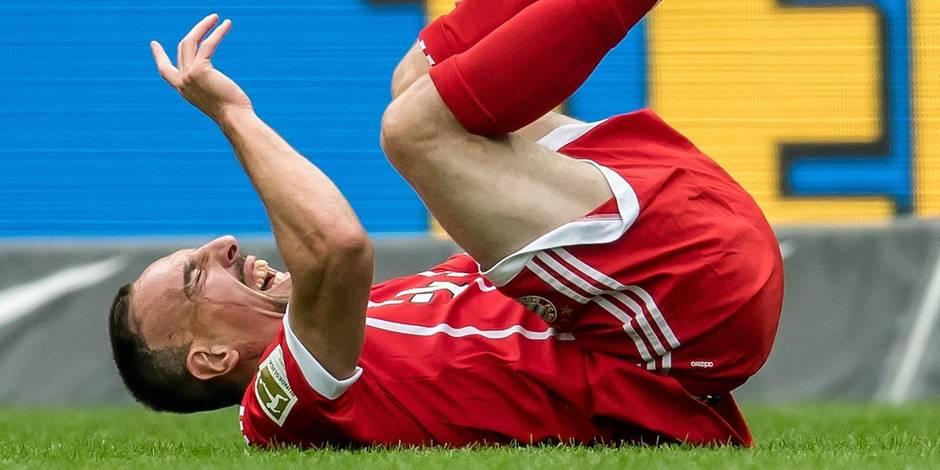 La tuile pour Ribéry qui est out entre 2 et 3 mois