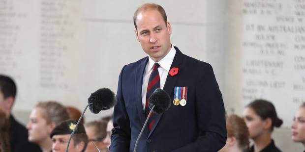 Le prince William en Belgique en octobre pour commémorer le centenaire de la Première Guerre mondiale - La DH