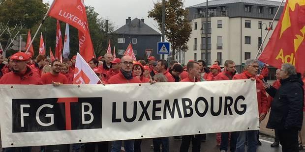 Grève CGSP : plus de 400 militants à Arlon - La DH